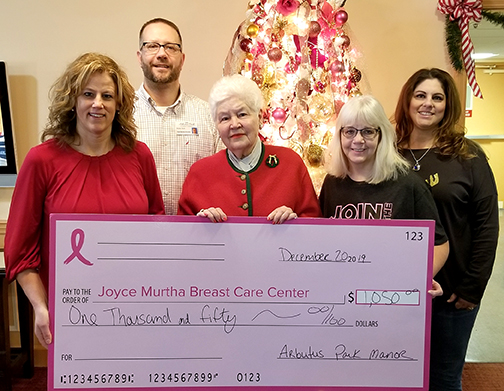 Arbutus Park Retirement Community Donation to JMBCC