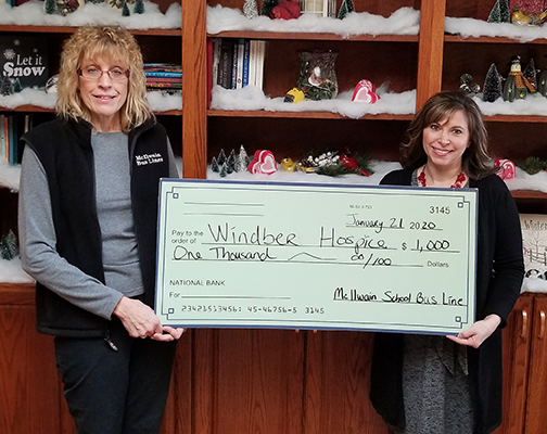 McIlwain Bus Line Donates to Windber Hospice